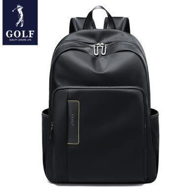 高爾夫GOLF簡約雙肩包休閑男士防水背包可裝14英寸筆記本電腦包時尚出行大容量多隔層 D933845