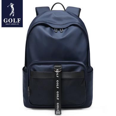 高爾夫GOLF輕便防水雙肩包時尚休閑男士大容量背包多功能可裝14英寸筆記本電腦包商務 D933836