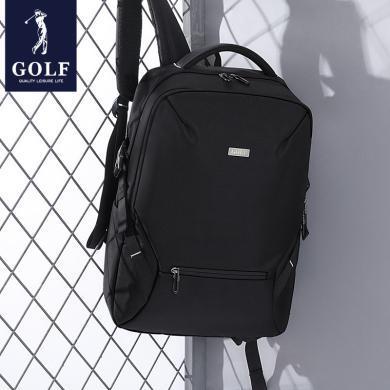 高爾夫GOLF可裝15.6英寸筆記本電腦包多功能防潑水背包商務男士大容量雙肩包旅行休閑包 D933847