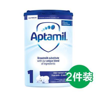 【2罐】英国 Aptamil 爱他美婴儿奶粉1段(0-6个月宝宝)800g/罐