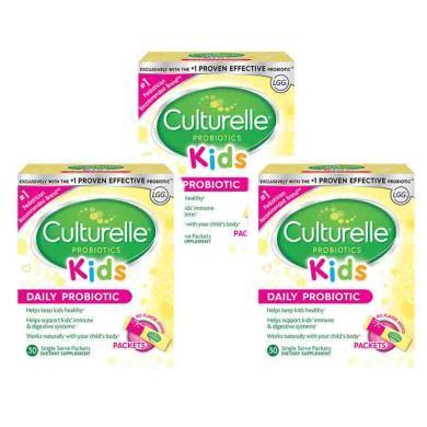 【支持购物卡】3件装 美国 CULTURELLE/康萃乐 宝宝益生菌粉预防腹泻便秘护肠胃