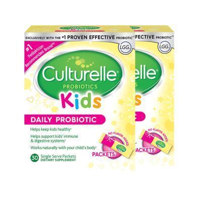 【支持购物卡】2件装 美国 CULTURELLE/康萃乐 宝宝益生菌粉预防腹泻便秘护肠胃