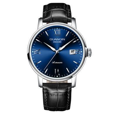 冠琴手表 2020新款正品男裝表進口機芯自動機械表皮帶男士手表時尚防水表