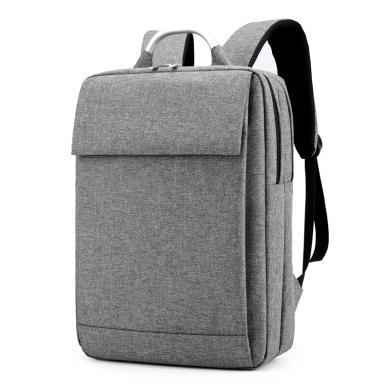 【有格调】aksen奥凯盛双肩包男士电脑包背包新款大容量休闲商务旅行笔记本休闲学生书包 时尚灰