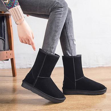 MIJI加绒保暖雪地靴女款网红厚底百搭大棉鞋XD-C123