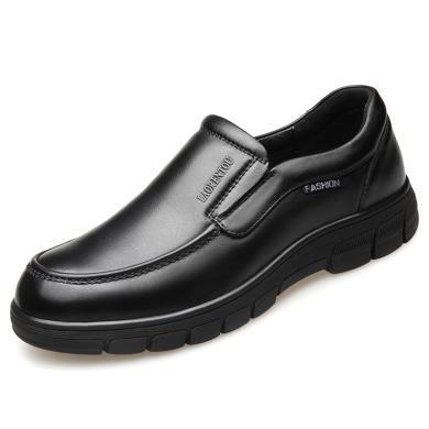 老人頭春夏新款中老年男鞋爸爸鞋男士休閑商務皮鞋軟底父親鞋2766