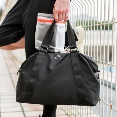 香炫儿(XIASUAR)旅行包男手提短途出差旅游单肩行李袋女大容量运动训练健身斜挎包-0243黑色