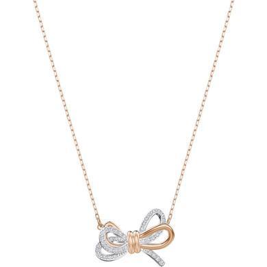 【支持購物卡】Swarovski施華洛世奇 LIFELONG BOW 女士浪漫永恒蝴蝶結鎖骨項鏈、手鏈