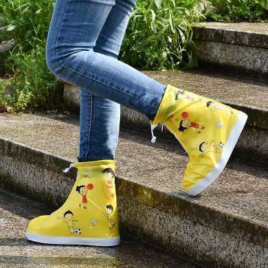 ocsco 新款兒童防水鞋套親子實用防雨鞋套學生幼兒園印花鞋套