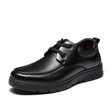 富贵鸟商务休闲鞋时尚简约系带男士皮鞋商务皮鞋男鞋子 A894882
