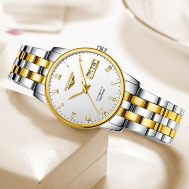冠琴手表女機械表全自動簡約大氣鋼帶防水時尚潮流女表女士腕表