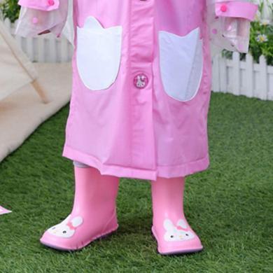 谜子 宽头儿童雨鞋新款女童宝宝雨靴婴幼儿1-6岁小孩水鞋胶鞋水鞋