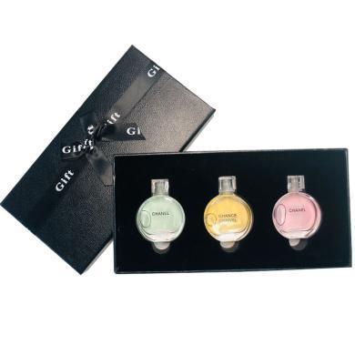 【支持购物卡】法国 Chanel香奈儿香水小样套装礼盒邂逅7.5ml*3 )新旧版随机发(无喷头介意慎拍)