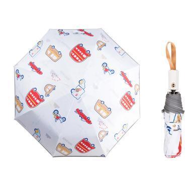 谜子 儿童卡通雨伞新款女童创意新款防晒自动伞男童可折叠太阳伞