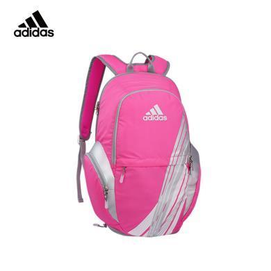阿迪达斯adidas 羽毛球拍包双肩背包女子运动背包户外休闲书包网羽球拍包银粉色 BG120511