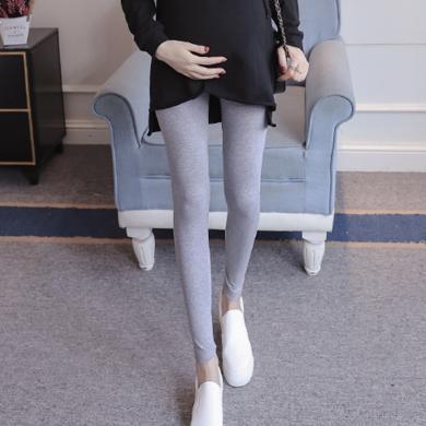 妃孕寶 孕婦褲春裝新款辣媽打底褲修身彈力小腳褲高腰托腹褲女