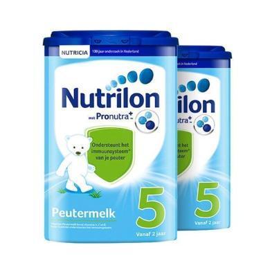 【2罐】荷兰Nutrilon牛栏奶粉5段(24-36个月宝宝) 800g/罐 保税区发货(?#34892;?#26399;至2020年8月)