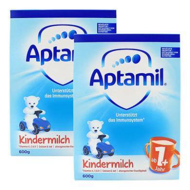 【2盒】德国Aptamil爱他美婴幼儿配方奶粉1+段(12-24个月宝宝) 600g/盒