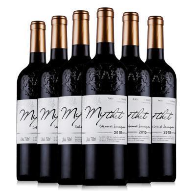 法國原酒進口紅酒 蜜黛A級珍藏干紅葡萄酒整箱750ml*6瓶