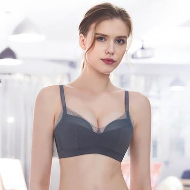 摩登孕妈 性感蕾丝内衣女新款中厚无钢圈胸罩小胸聚拢调整型文胸
