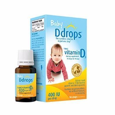 【支持购物卡】美国 DDROPS 婴儿维生素D3补钙滴剂 90滴