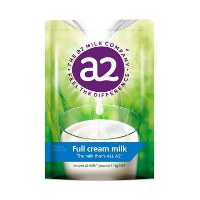 1袋*澳洲A2全脂奶粉成人奶粉袋裝高鈣全脂高蛋白奶粉進口牛奶1kg(新舊包裝隨機發貨)【香港直郵】