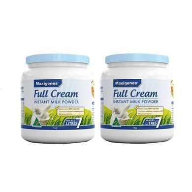 2罐*澳洲美可卓全脂奶粉 藍胖子奶 Maxigenes美可卓高鈣全脂奶粉1kg【香港直郵】