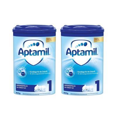 【支持购物卡】2罐*德国Aptamil 爱他美 奶粉1段 800g(3-6个月)新版  海外直邮