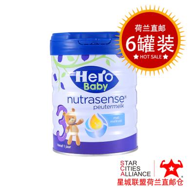 【支持購物卡】6罐* 荷蘭美素HeroBaby白金嬰幼兒奶粉寶寶配方奶粉3段 (1-2歲)800g/罐*6 荷蘭空運直郵