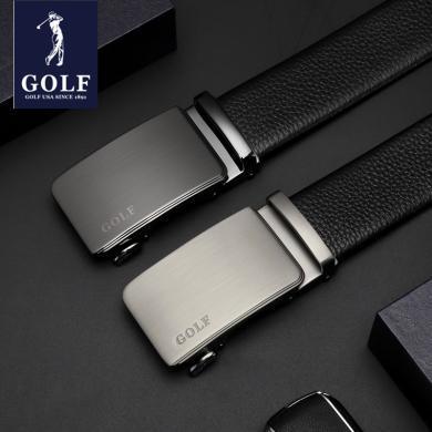 GOLF/高尔夫头层牛皮休闲商务自动扣男士腰带男士皮带礼盒 P934976