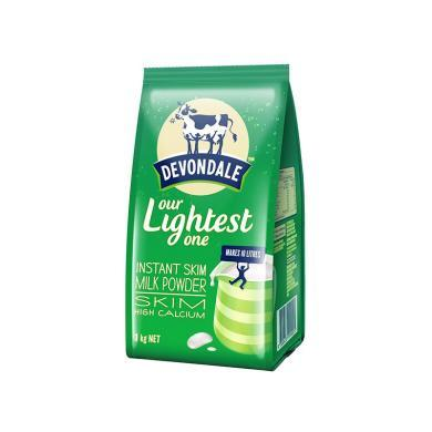 1袋*澳洲德運奶粉Devondale脫脂高鈣奶粉德運脫脂奶粉 澳洲進口1kg【香港直郵】