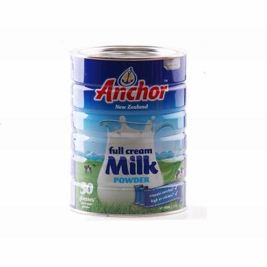 1罐*新西蘭Anchor安佳全脂兒童成人補鈣奶粉900g【海外直郵】