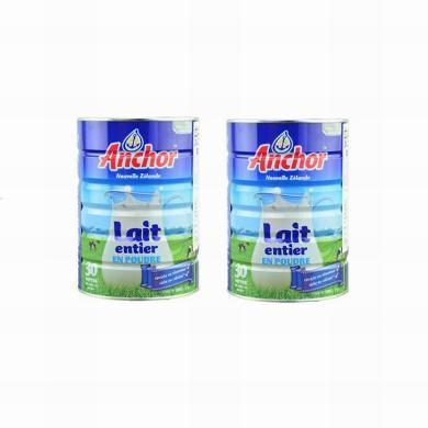 2罐*新西蘭Anchor安佳全脂兒童成人補鈣奶粉900g【海外直郵】