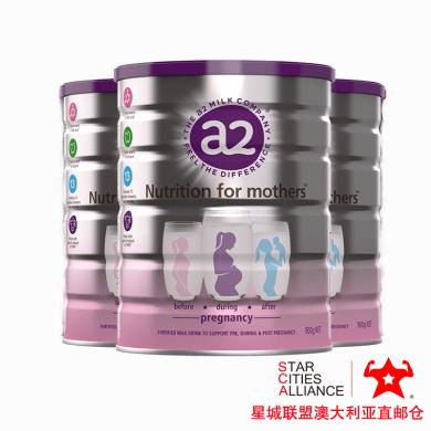 【支持購物卡】3罐*澳洲A2 至初孕婦奶粉(新包裝)愛寶寶也更愛媽媽哦900g /罐*3 澳洲空運直郵