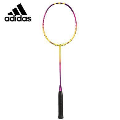 阿迪達斯(adidas)羽毛球拍SPIELER E LITE羽毛球拍100%碳纖維羽毛球拍 入門級羽毛球拍 黃色