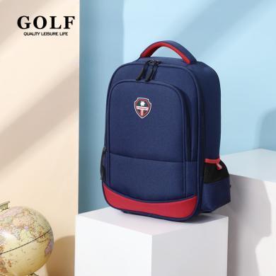 GOLF/高爾夫小學生書包男時尚背包女雙肩包英倫風大容量初中生 D933870
