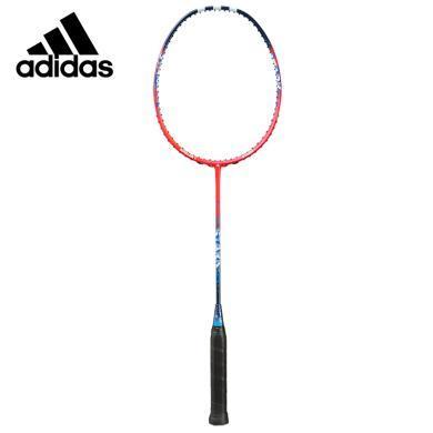 阿迪達斯(adidas)羽毛球拍 SPIELER E STARK  碳纖維羽毛球拍 紅色羽毛球拍球拍84g±3 入門級羽毛球球拍MB0173