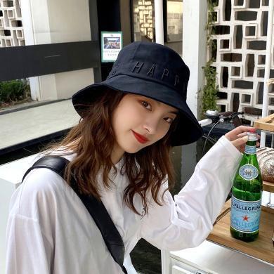 2020新款帽子女春夏韩版渔夫帽时尚百搭创意款遮阳帽子