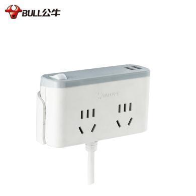 公牛(BULL)GN-U202GU桌面插/U202GU桌邊插 1.8米 2孔 雙USB