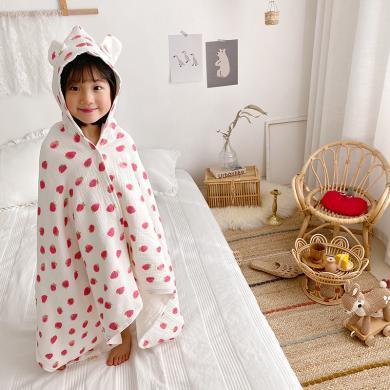 【減10元】VIPLIFE優質全棉紗兒童披肩浴袍浴巾春夏蓋被 【棉花糖云感紗系列】