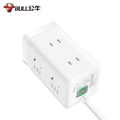 公牛usb插座充電大魔方UU2126插排插線板接線板多功能家用轉換器1.8米