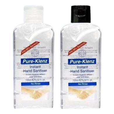【支持購物卡】【2瓶】英國Pure-klenz 抑菌乙醇洗手液 免洗洗手液凝膠 消毒洗手液100ml/瓶