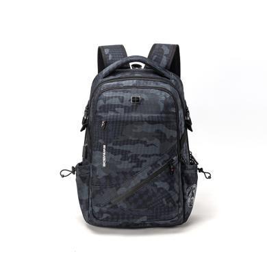 瑞制商务时尚双肩背包大容量多功能电脑背包旅行包RZ-81802