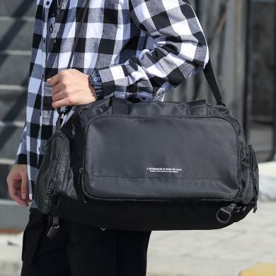 香炫兒(XIASUAR)多用途大容量健身包男士單肩雙肩兩用旅行包干濕分離訓練包游泳包雙肩行李包0408
