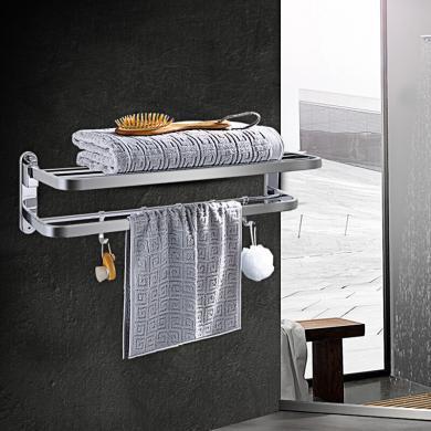 九牧304不銹鋼掛件浴巾架毛巾架衛生間置物架936023-1B-2