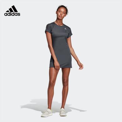 阿迪達斯 Adidas 連衣裙女2020春夏新款短袖運動裙DP4058