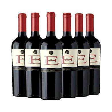 6支裝【品悅紅酒】贊美歌紅酒 梅洛紅葡萄酒750ml  智利原瓶進口紅酒 六支