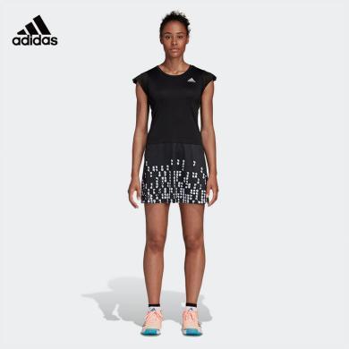阿迪達斯 Adidas 連衣裙女2020春夏新款短袖運動裙CW7055