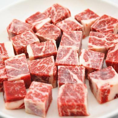 林肯兴源 原切进口安格斯牛小排粒 牛肉粒 500g