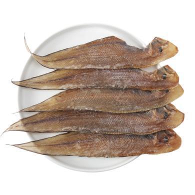 北海大龙利鱼干500g大咸鱼干下饭煎炸推荐海鲜干货特产1斤8-13条  gx13